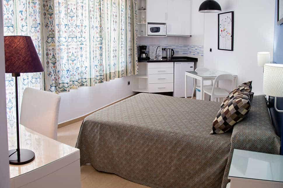 Slaapkamer van appartement in Ecuador Park in Torremolinos, Spanje