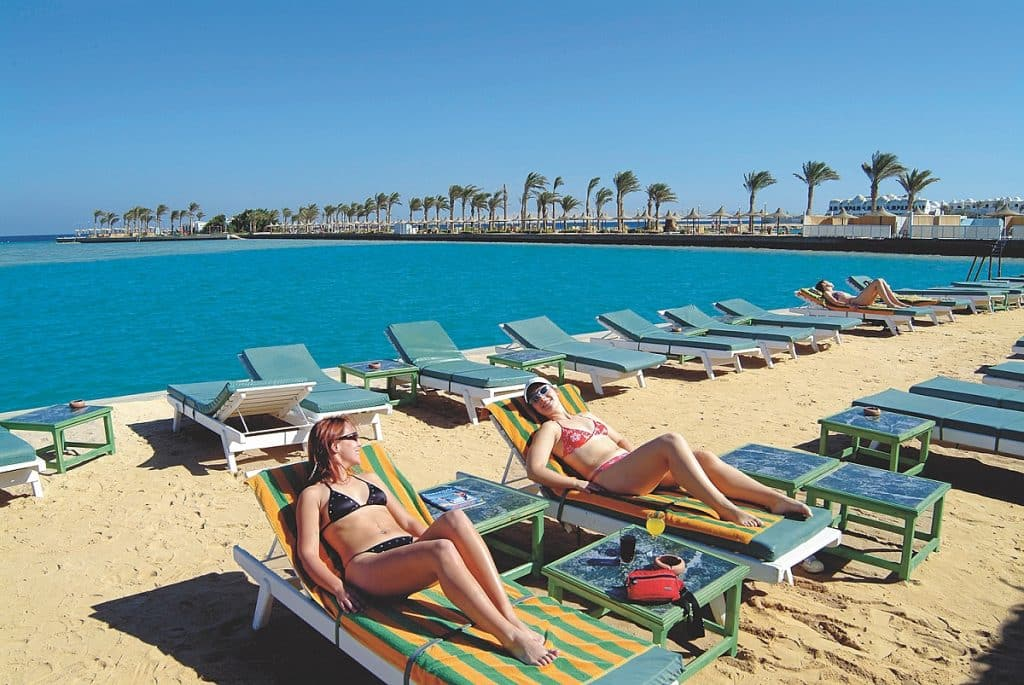 Strand van Bel Air Azur Resort in Hurghada, Egypte