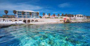Strand van Hotel Terminal in Santa Maria di Leuca, Italië