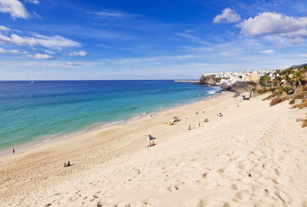 Strand van Jandia beach op Fuerteventura