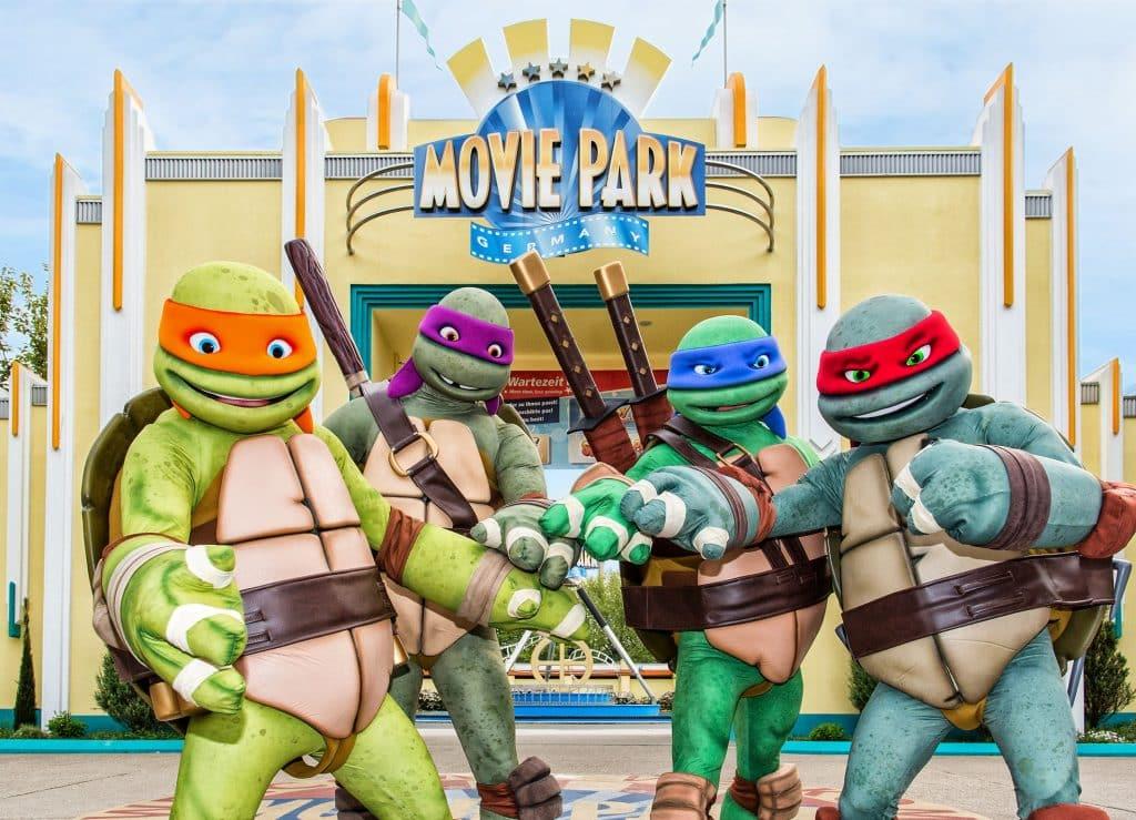 Teenage Mutant Ninja Turtles in Movie Park Germany in Bottrop, Duitsland
