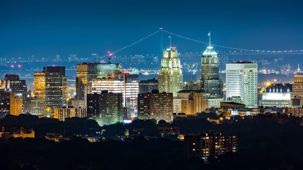 Uitzicht op New Jersey in New York, Amerika