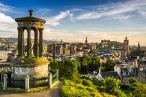Uitzicht over Edinburgh, Schotland