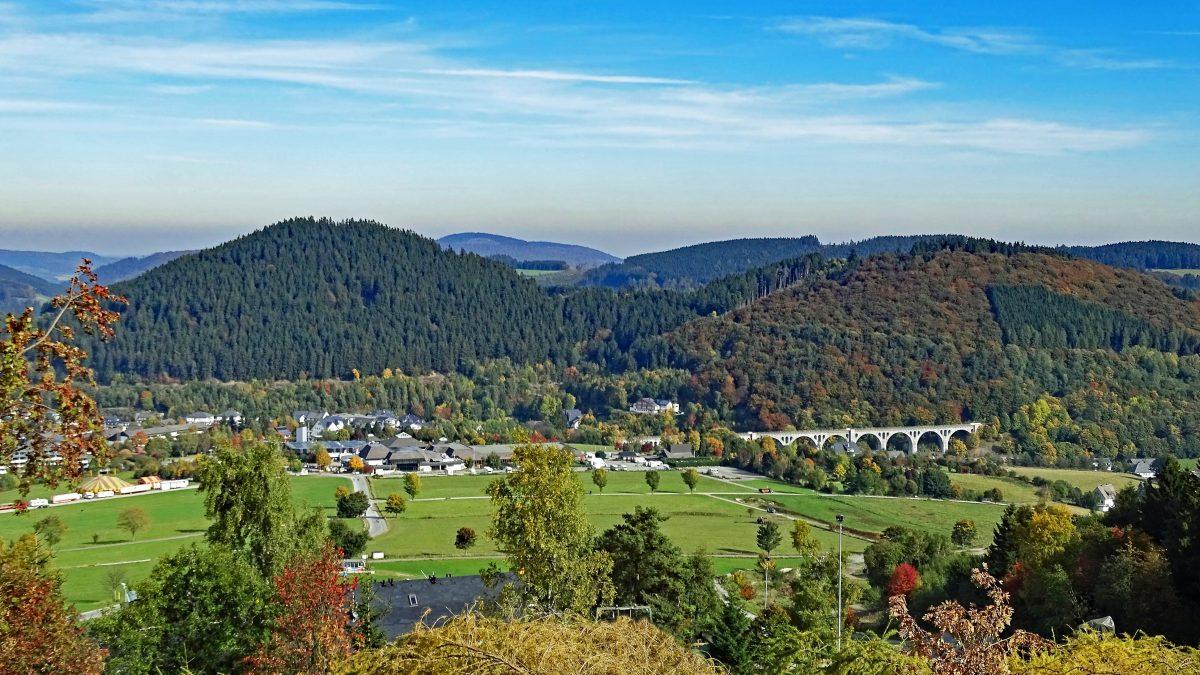 Uitzicht over Willingen in het Sauerland, Duitsland