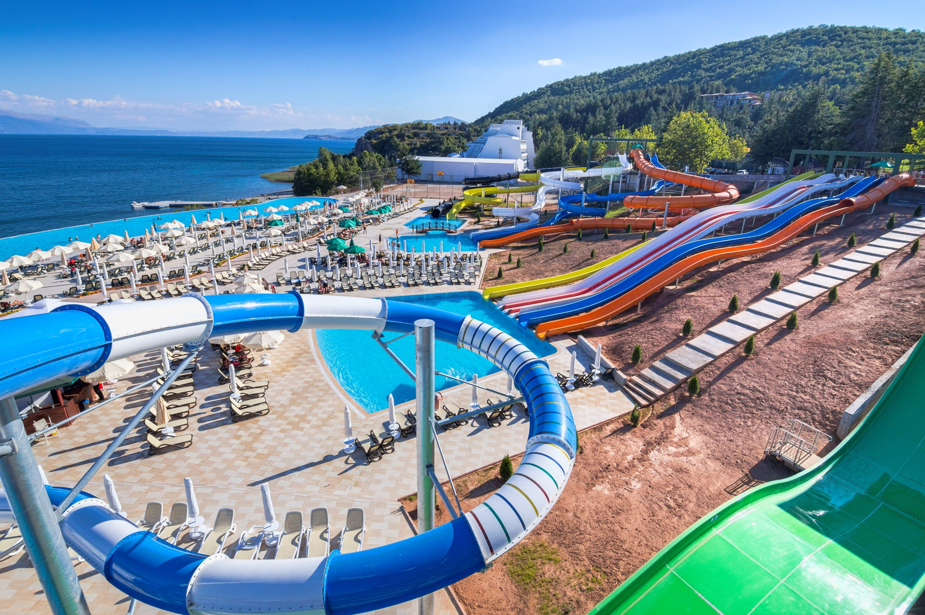 Waterpark van Izgrez Spa & Aquapark in Struga, Macedonië