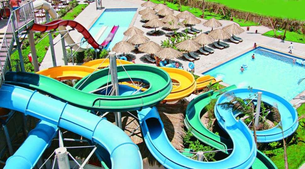 Waterpark van Sindbad Aqua Resort & Aqua Hotel in Hurghada, Egypte