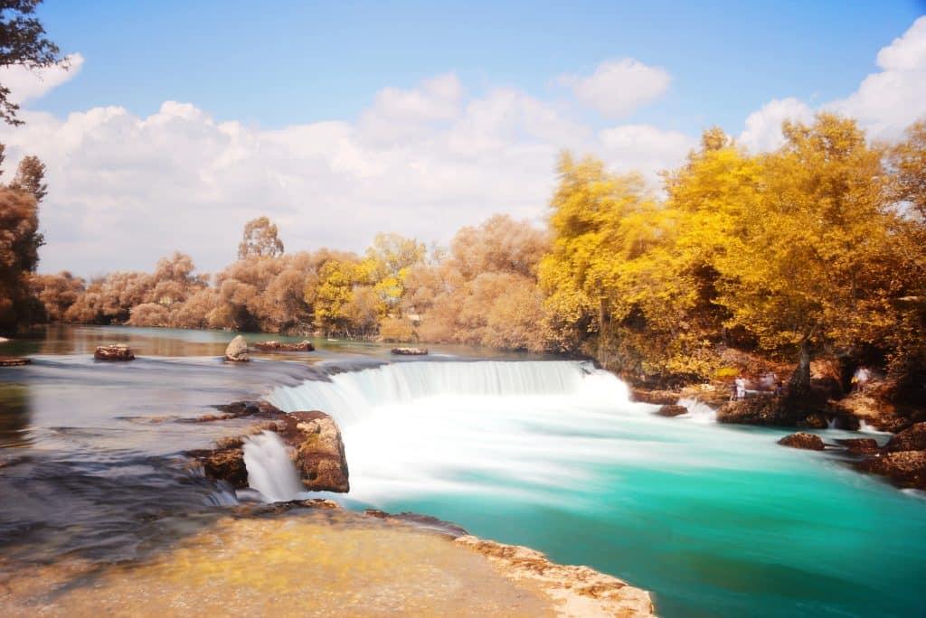 Waterval in Manavgat, Turkije