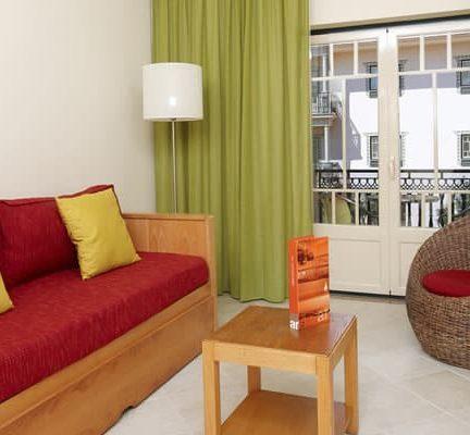 Woonkamer van appartement van Quinta Pedra Dos Bicos in Albufeira, Algarve, Portugal
