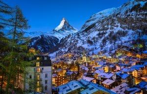 Zermatt valei en Matterhorn in Zwitserland