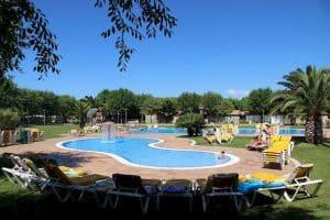 Zwembad van Camping Bella Terra in Blanes, Costa Brava, Spanje