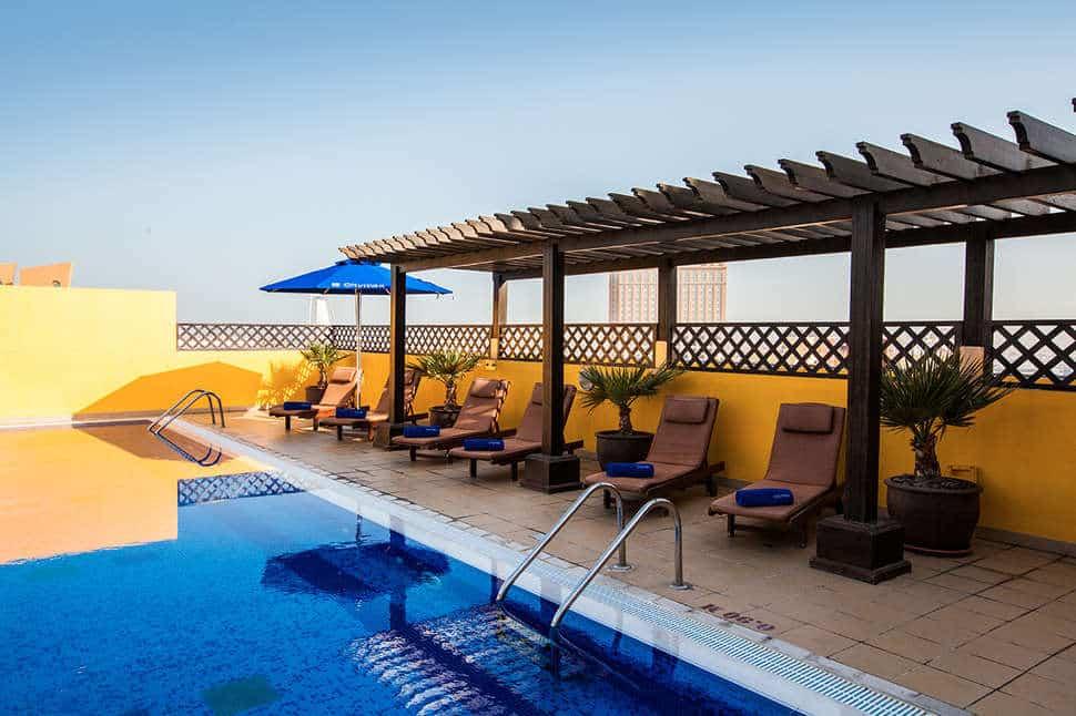 Zwembad van Hotel Citymax Bur Dubai in de Verenigde Arabische Emiraten