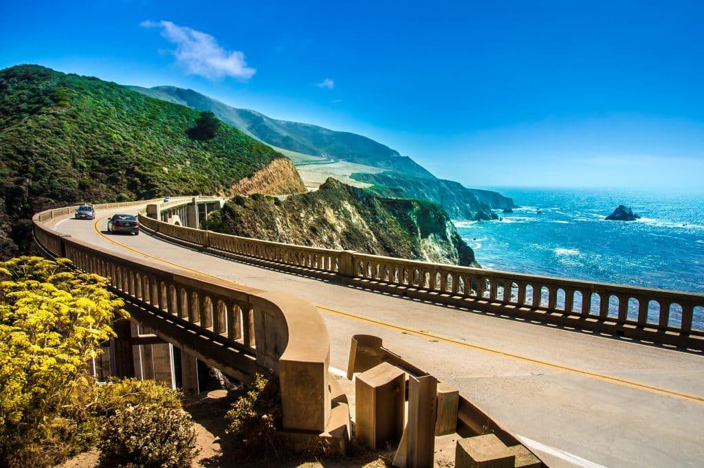 Bixby Creek Bridge op de Highway One in Californië, Verenigde Staten