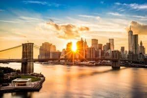 Brooklyn Bridge in Manhattan, New York, Verenigde Staten
