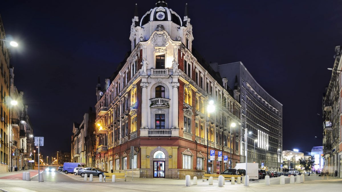 Centrum van Katowice, Polen