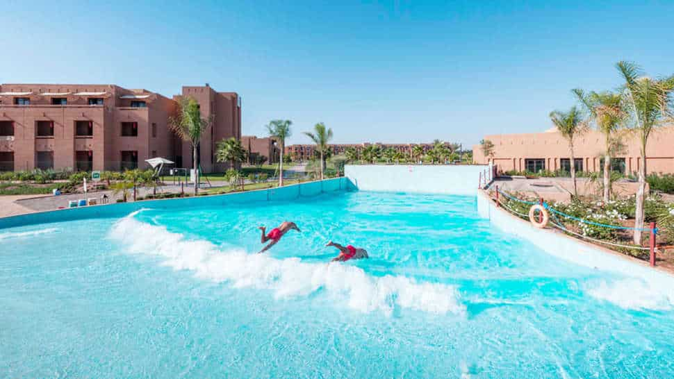 Golfslagbad van SPLASHWORLD Aqua Mirage in Marrakech, Marokko