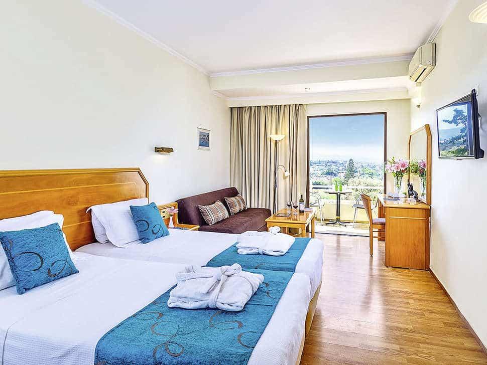 Hotelkamer van Rethymno Mare Resort in Skaleta, Kreta