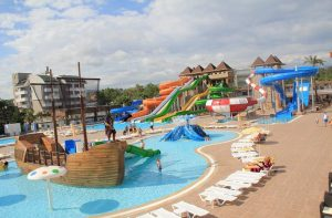 Kinderbad en waterpark van SPLASHWORLD Eftalia Splash Resort in Alanya, Turkije