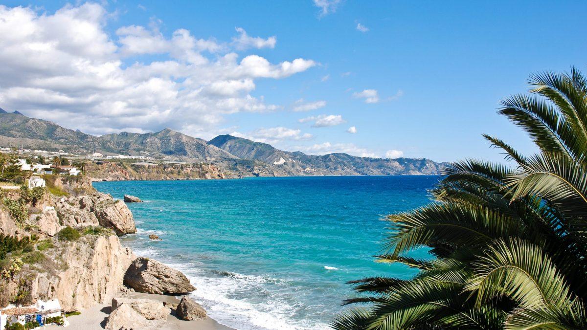 Kustlijn van Costa del Sol, Spanje