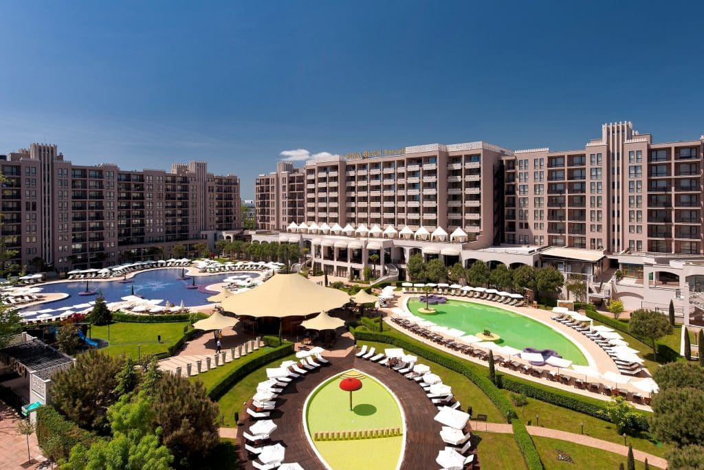 Ligging van Barceló Royal Beach resort in Sunny Beach, Bulgarije