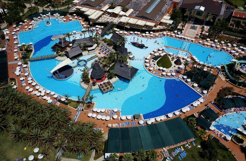 Ligging van Pegasos World Hotel in Side, Turkije