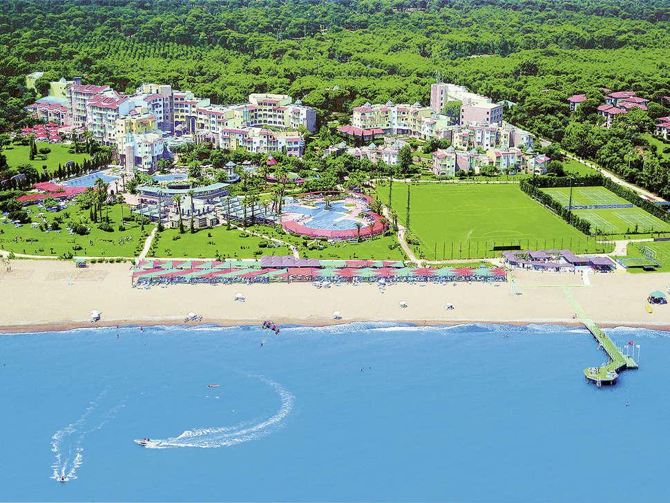 Ligging van Limak Arcadia Golf & Sport Resort in Belek, Turkije