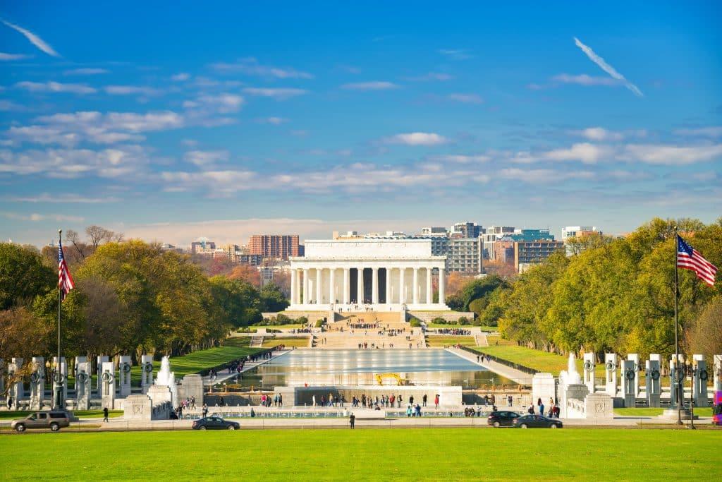 Lincoln memorial in Washington, Verenigde Staten
