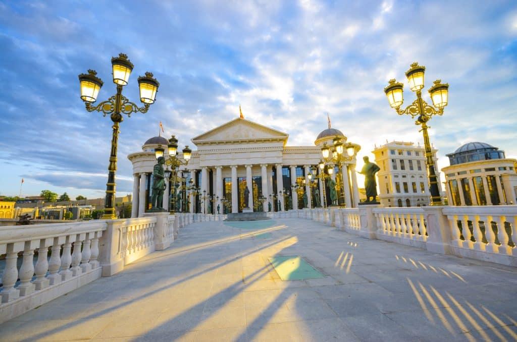 Macedonië museum in Skopje, Macedonië