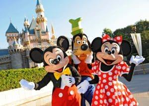 Mickey, Goofy en Minnie in Disneyland Parijs, Frankrijk