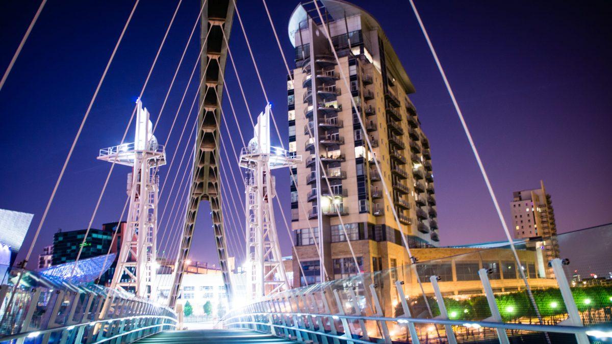 Millennium footbridge in Manchester, Engeland