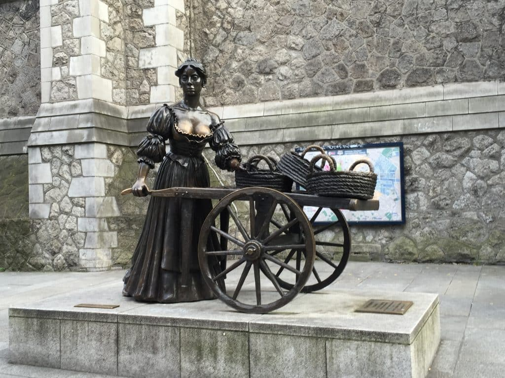 Molly Malone in Dublin, Ierland