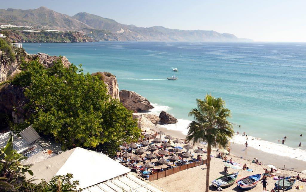 Nerja beach in Malaga, Spanje