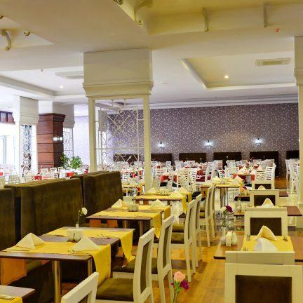 Restaurant van Linda Hotel in Side, Turkije