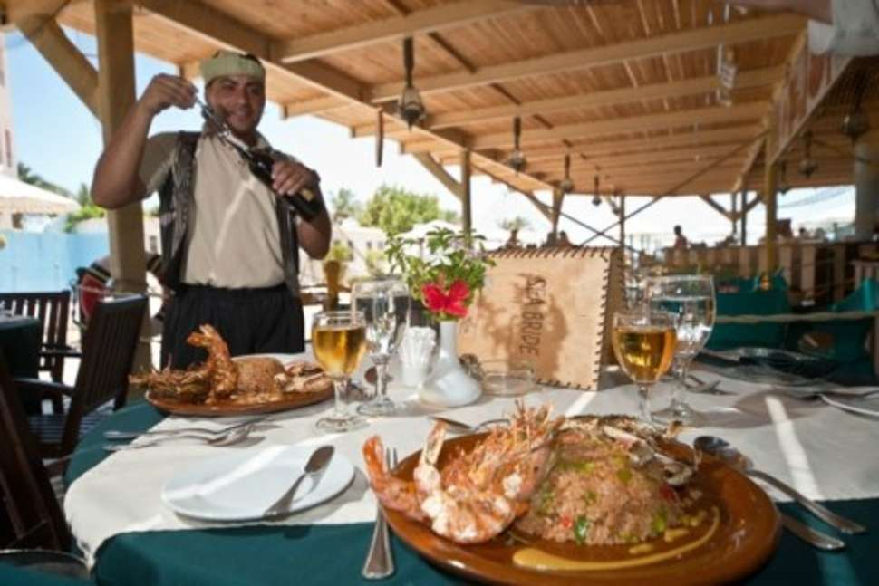 Restaurant van Minamark Beach Resort in Hurghada, Egypte