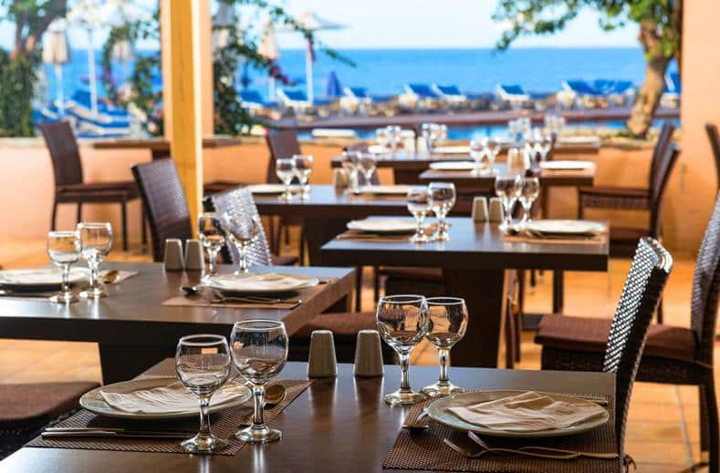 Restaurant van Silva Beach Resort in Chersonissos, Kreta