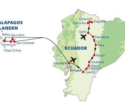 Route rondreis Ecuador en de Galapagoseilanden