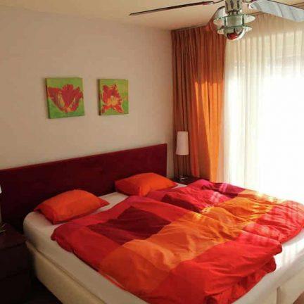 Slaapkamer van Appartement Bergen aan Zee in Noord-Holland