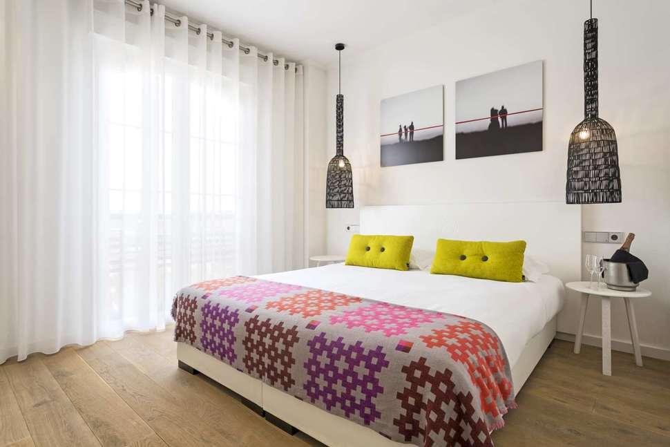 Slaapkamer van appartement van Marble Ama Andalucia in Islantilla, Costa de la Luz, Spanje