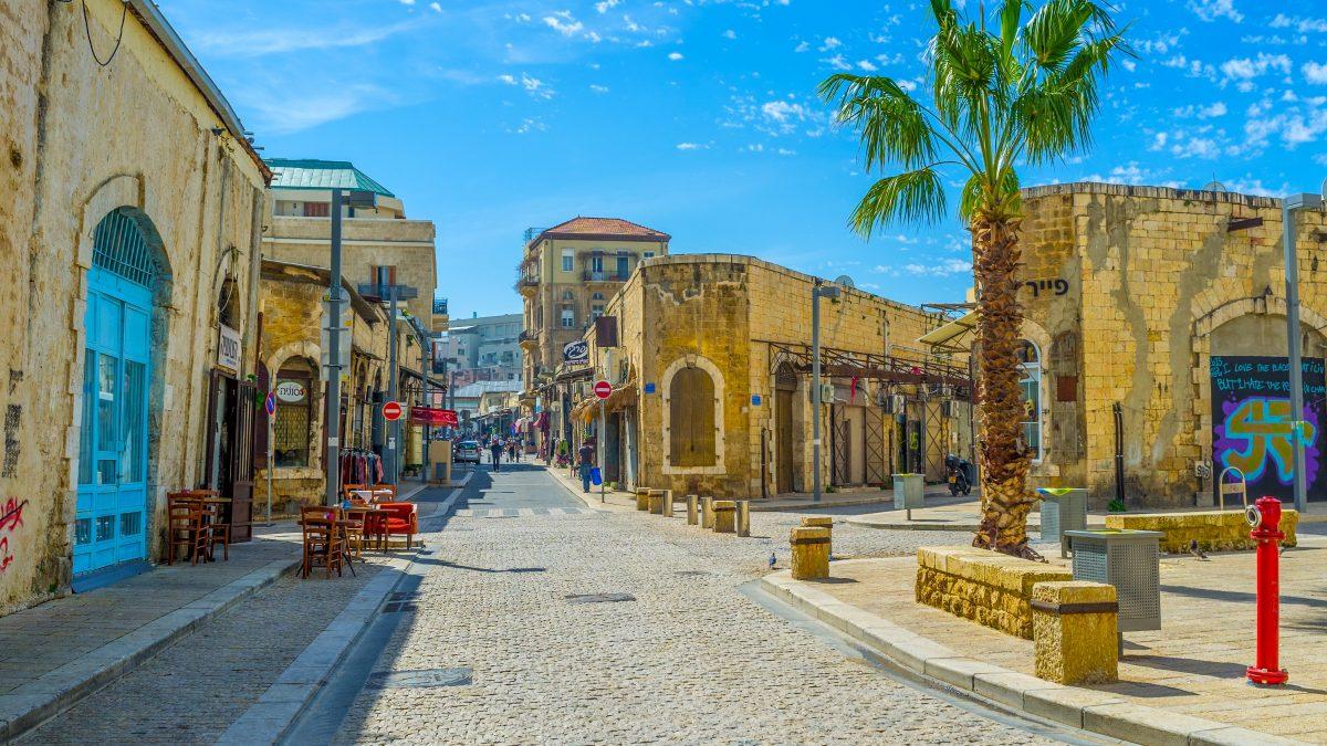 Straat in Jaffa, Israël