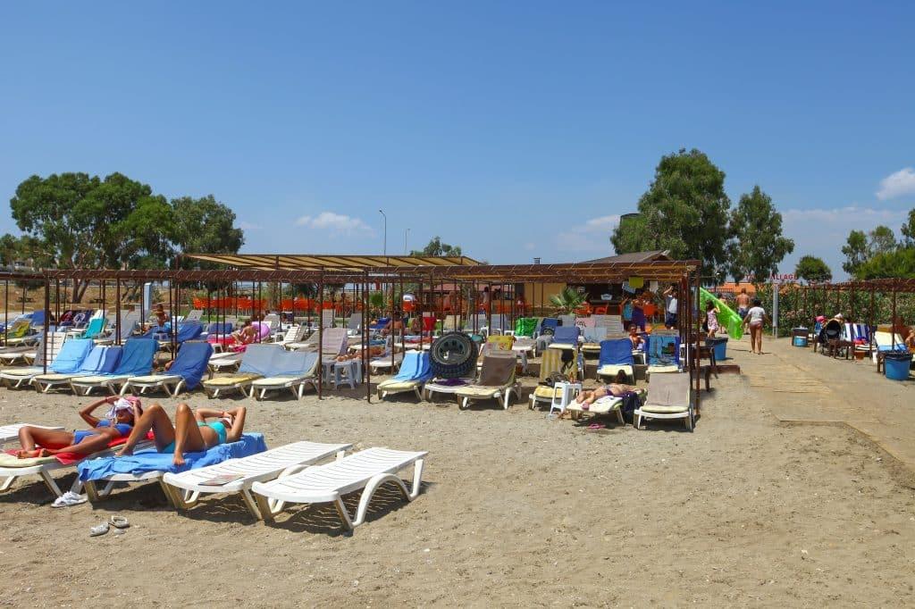 Strand van Eftalia Village Resort in Alanya, Turkije