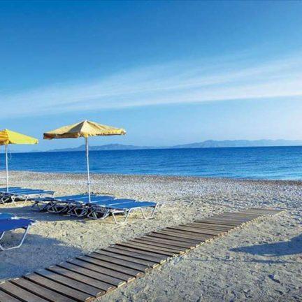 Strand van Sunshine Vacation Club in Trianda (Ialyssos), Rhodos