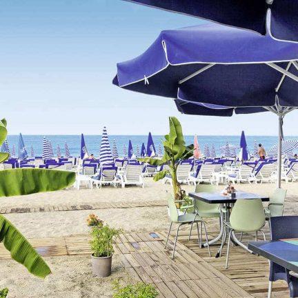 Strand van TAC Premier Hotel & Spa in Alanya, Turkije