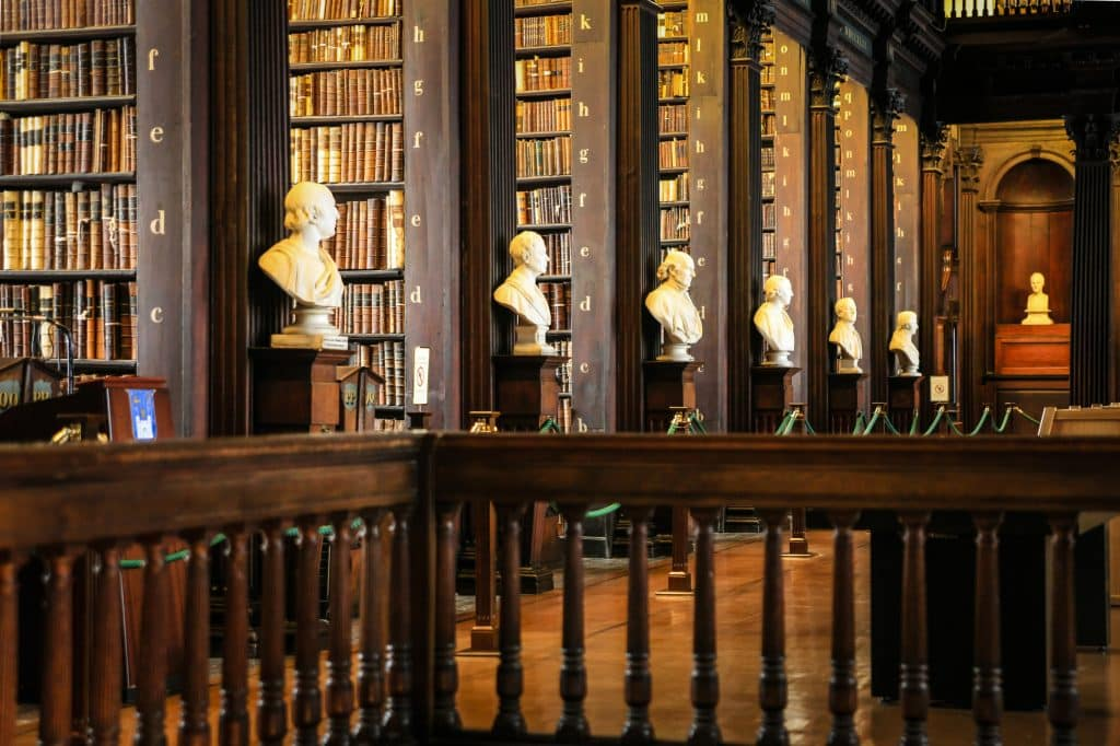 The Long Room – Trinity College Library in Dublin, Ierland