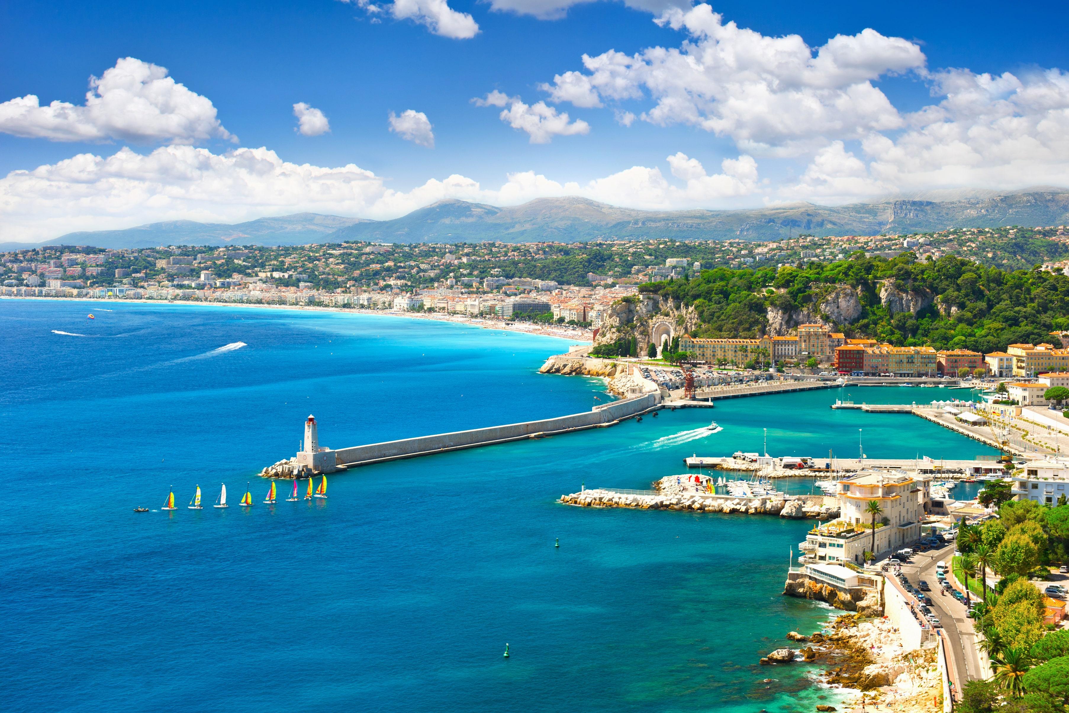 Uitzicht over Nice, Frankrijk