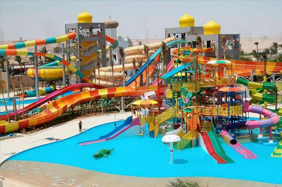 Waterpark van Ali Baba resort in Hurghada, Egypte
