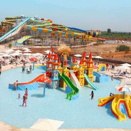 Waterpark van SPLASHWORLD Aqua Mirage in Marrakech, Marokko