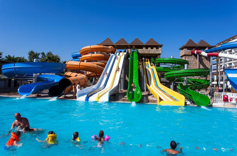 Waterpark van SPLASHWORLD Eftalia Splash Resort in Alanya, Turkije