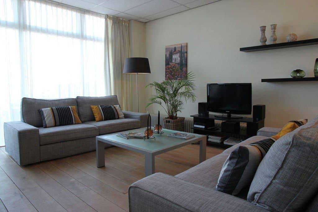 Woonkamer van Appartement Bergen aan Zee in Noord-Holland