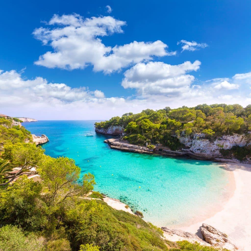 Zee en strand op Mallorca