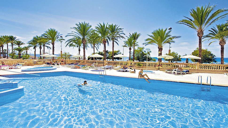 Zwembad van Allsun Pil-lari Playa  in Playa de palma, Mallorca