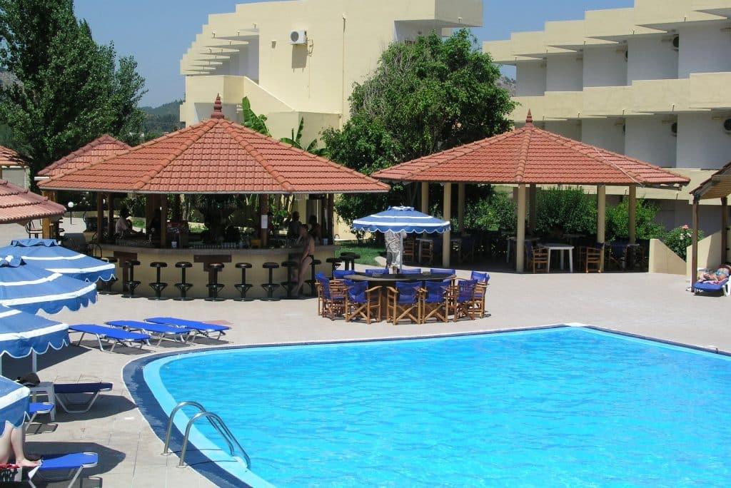 Zwembad van Fantasy Hotel in Kolymbia, Rhodos